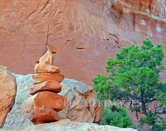 Arches National Park Utah Cairns Wall Art Home Decor Digital Download or Photo Print Fine Art Photography Fischerimages
