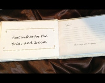Lace Ivory or white color wedding guest book with pen holder