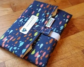 BIGGER, FRESHER Reusable Sandwich Wrap by SewEco// Triple layered/INSULATED option/Spatter
