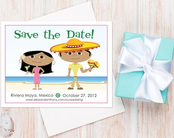 Mexico Save the Dates — Available as Card or Magnet! Destination Wedding Save the Dates, Cancun Wedding, Save the Date Magnet, Beach Wedding