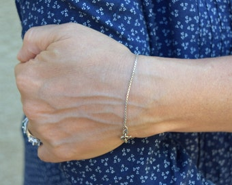 Vintage chain bracelet sterling silver Italy Italian jewelry gift for her Christmas