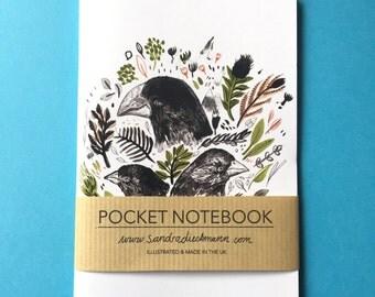 Notebook, Jotter, Mini Sketchbook | Darwin Finches
