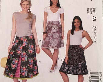 McCall's Sewing Pattern M7414 Misses' A-Line Skirts New UNCUT