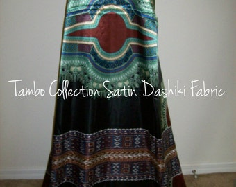 6 Yards Wholesale Black Satin African Dashiki Fabric / African scarf fabric/ African Satin fabric/ African lingerie fabric/ Kaftan fabric