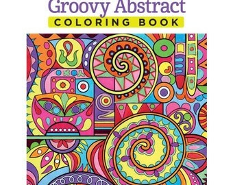 Groovy Abstract Zentangle Coloring Book