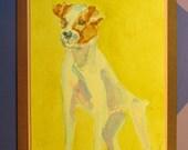 """JACK RUSSELL TERRIER, Original Handmade Watercolor (""""Blank Inside"""")"""