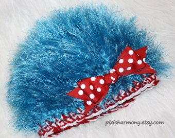 Baby Boy or Girl Hat - Thing 1 Thing 2 Inspired - Photo Prop - Newborn - Reborn Doll Hat - Made to Order