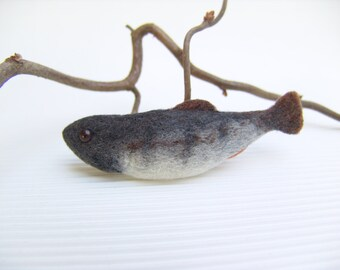 Felt Fish - Brooch - Needle Felted