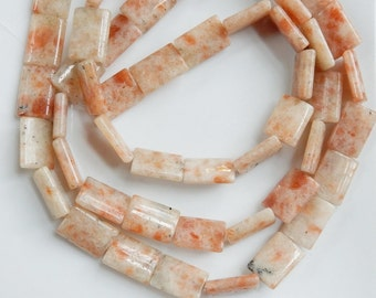 Sunstone Rectangle beads  (20x10mm) FULL STRAND (15 inches)