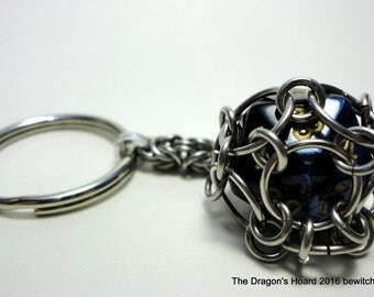 Ready to Ship - Captured D20 Keychain - In Stock