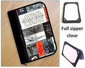 personalized HARD case - ipad case / kindle / nook / samsung / kobo/ others - full zipper close - star wars