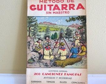 1963 Metodo De Guitarra Sin Maestro Por Julian Calleja