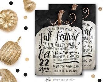Fall Festival Invitation, Halloween Party Invitation, Harvest Party Invitation, Pumpkin Carving Invite, Fall Festival Invite PRINTABLE 5x7