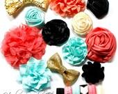 Headband Kit - Baby Shower Station Kit - Gold, Coral, Black, Mint, Ivory - Paragon - Baby Headbands, DIY Headband - Hairbow Supplies, Etc.