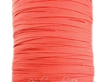 Coral Skinny Elastic 1/4 inch for Baby Headbands - Hairbow Supplies, Etc.