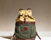 Roll Top Back Pack - Canvas