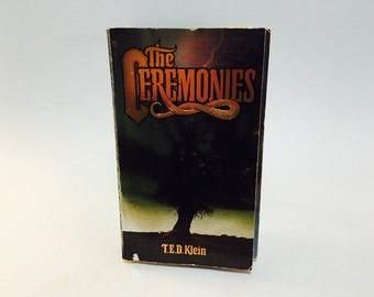Vintage Horror Book The Ceremonies by T.E.D. Klein 1985 Paperback