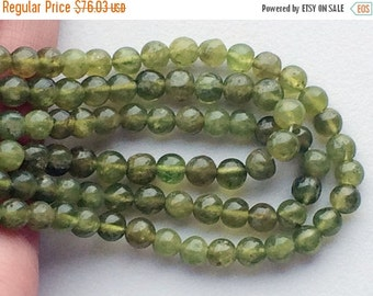 50% ON SALE 5 Strands WHOLESALE Vessonite Beads, Green Plain Round Beads, Vessonite Necklace, 6mm Beads, 13 Inch Strand