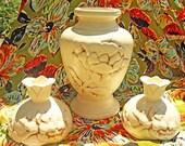 RESERVED for KJWELT Vintage Red Wing Vase 1940s Magnolia Pottery Line Made in USA