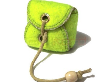 Handmade Recycled Tennis Ball Mini Bag/ Change Holder 2