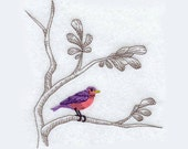 Chinoiserie Bird Tea Towel | Personalized Kitchen Towel | Embroidered Towel | Teacher Gift | Embroidered Kitchen Towel |Hand Towel |Birthday