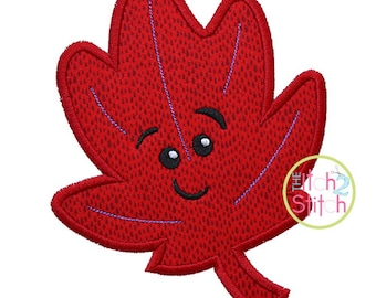 Cute Fall Leaf 1 Applique Design For Machine Embroidery, INSTANT DOWNLOAD now available
