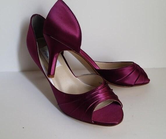 burgundy wedding shoes burgundy bridal shoes burgundy