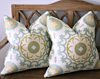 20 inch Pillow Covers Free Shipping Piped Pillows Designer Pillow Covers