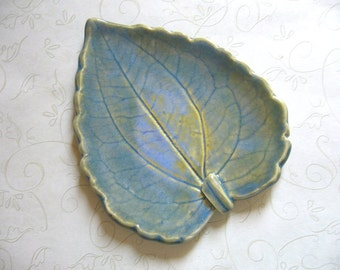 Hidden Lake Pottery Leaf Spoon Rest