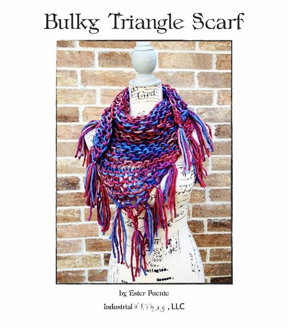Bulky Triangle Scarf Knitting Pattern Lacy Scarf Chunky