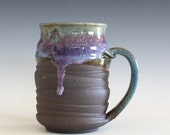 Coffee Mug, 19 oz, unique coffee mug, ceramic cup, handthrown mug, stoneware mug, pottery mug, ceramics and pottery
