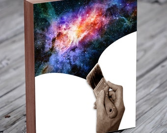 Universe Art - Space Art  - Wood Block Art Print