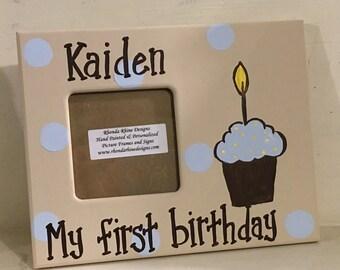 Boy First Birthday Frame