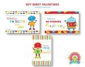 Robot Valentine's Day Card - Valetine's Day Cards for Kids - Kids Valentine's Day Cards - Valentine For School - Classroom Valentine