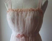 Vintage Ladies Pink Nightgown Vintage Ladies Petticoat Vintage Pink Nightgown