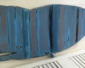 Blue Grey Whale Art Sign Striped Beach House Nautical Beach House Decor by CastawaysHall - Ready to Ship