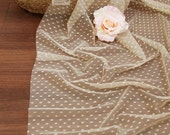 wide width 4mm polka dot mesh fabric for by the yard (width 62 inches) 72400