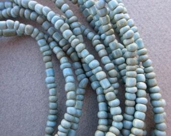 Blue Goomba Beads -6 Strands