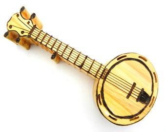 Banjo, Music Instrument, Banjo Instrument, Banjo Art, Wood Banjo, Wooden Banjo, Miniature Banjo, Banjo Player, Banjo Player Gift, Handmade