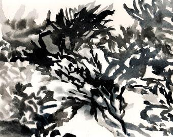 "Refuge, 7 x 10.25"", original watercolor on paper"