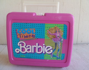 "Barbie""Cool Times"" Lunch Box  Thermos Mattel 1989"