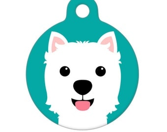 Pet ID Tag - West Highland Terrier Pet Tag, Dog Tag