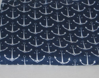 Baby Swaddle Blanket, Large Swaddle Blanket, 46x59, Gauze Blanket, Shannon Fabrics, Anchor Blanket, Nautical Blanket, Baby Boy, Baby Girl