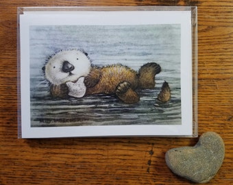 OTTER Box of 6 Note Cards by Mary Melcher