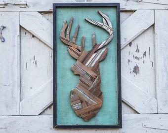 rustic deer head deer decor deer wood wall decor wooden deer deer design wall art hunting decor wall hanging