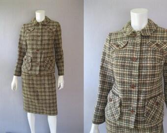 70s Pendleton Suit  - 1970s Plaid Wool  Vintage Suit