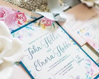 Watercolor Wedding Invitation - SAMPLE | water color wedding invitations