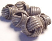 Vintage Plastic Buttons 1930's celluloid Set of 6 Knotted