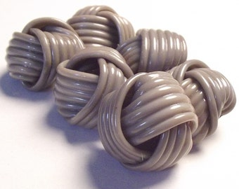 Vintage Buttons 1930's celluloid Set of 6 Knotted