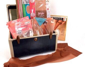 100% Nylon Seamless Stockings, Women's Hosiery, 1960s Ladies Undergarments, Vintage Wardrobe, Lingerie, Nylons, Garter Belt/Corset accessory